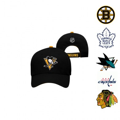 NHL, detská, nastaviteľná, šiltovka, basic, structuted, adjustable, pittsburgh, boston, toronto